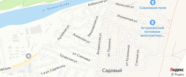 Алмазный переулок на карте Астрахани с номерами домов