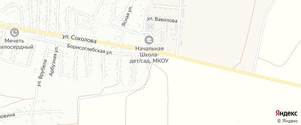 Борисоглебский 4-й переулок на карте Астрахани с номерами домов