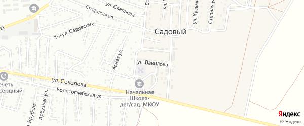 Улица Вавилова на карте Садового поселка с номерами домов
