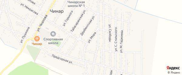 Улица Мира на карте села Чинара с номерами домов