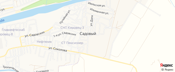 СТ сдт Финик на карте Садового поселка с номерами домов