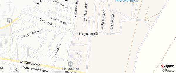 Береговая улица на карте Садового поселка с номерами домов