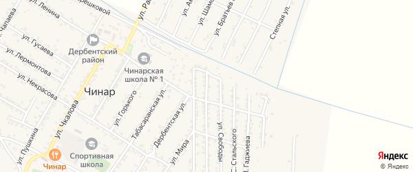 Улица Имама Шамиля на карте села Чинара с номерами домов