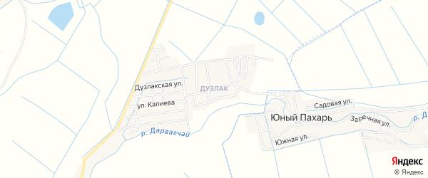 Территория Дузлак на карте Дербентского района с номерами домов