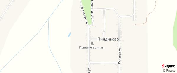 Овражная улица на карте деревни Пиндиково с номерами домов