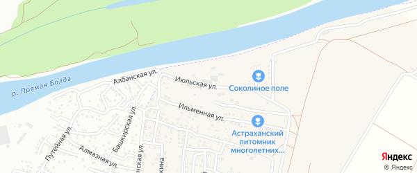 Июльская улица на карте Садового поселка с номерами домов