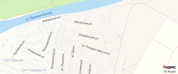 Ильменная улица на карте Астрахани с номерами домов
