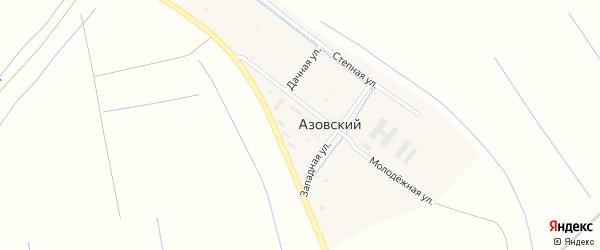 Дачная улица на карте Азовского поселка с номерами домов