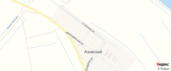 Дачная улица на карте Камызяка с номерами домов