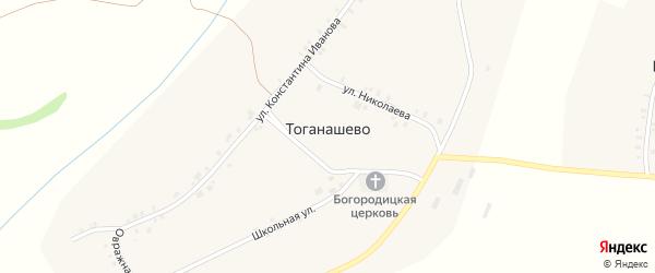 Овражная улица на карте деревни Тоганашево с номерами домов