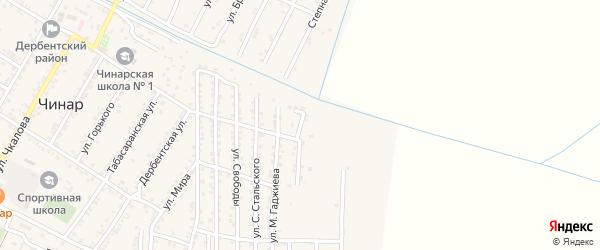 Виноградная улица на карте села Чинара с номерами домов