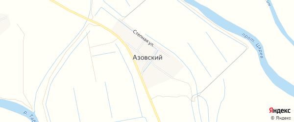 Карта Азовского поселка в Астраханской области с улицами и номерами домов