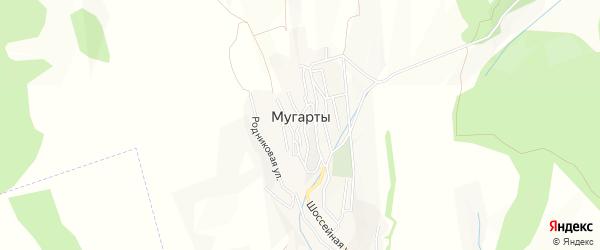Карта села Мугарты в Дагестане с улицами и номерами домов