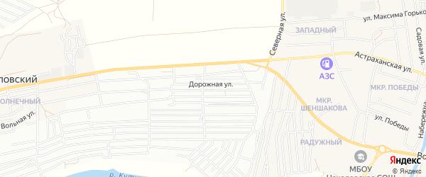 ГСК Монолит на карте Астрахани с номерами домов