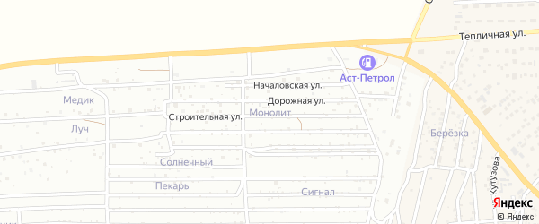Территория сдт Монолит на карте села Началово с номерами домов