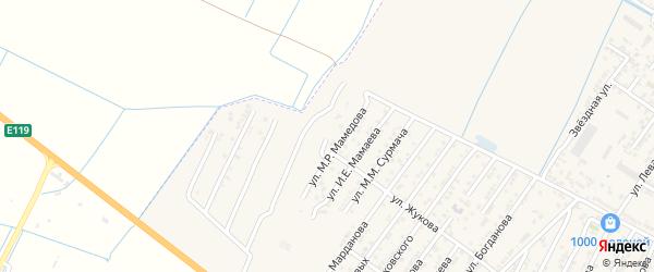 Переулок Мустафы Ризаевича Мамедова на карте Дагестанских огней с номерами домов