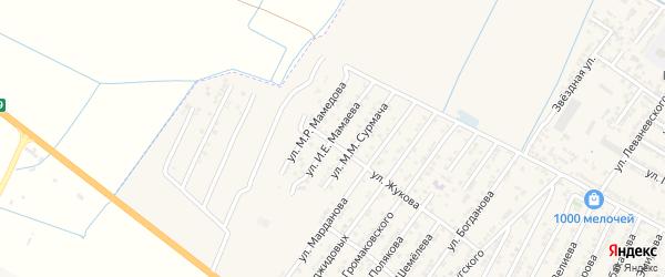 Улица Ильи Ефремовича Мамаева на карте Дагестанских огней с номерами домов