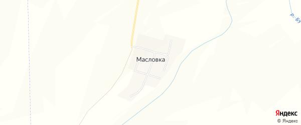Карта деревни Масловки в Чувашии с улицами и номерами домов