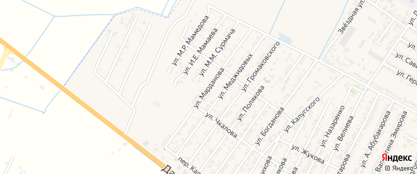 Улица Нурутдина Марданова на карте Дагестанских огней с номерами домов