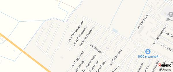 Улица Михаила Михайловича Сурмача на карте Дагестанских огней с номерами домов