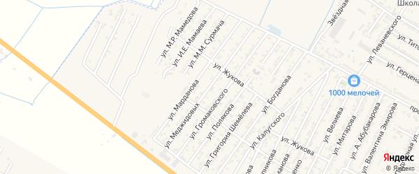 Улица Братьев Меджидовых на карте Дагестанских огней с номерами домов