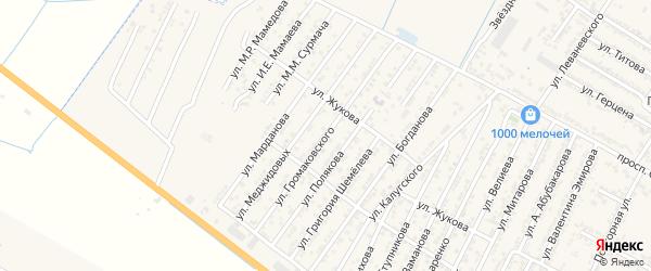Улица Владимира Александровича Громаковского на карте Дагестанских огней с номерами домов