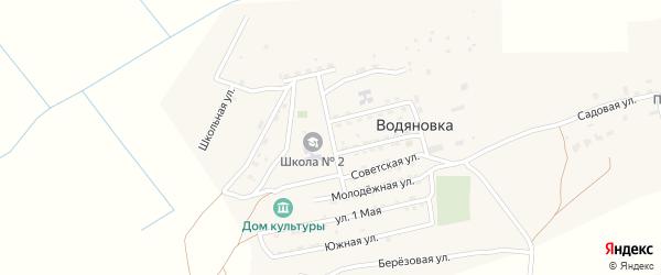 Строительная улица на карте села Водяновка с номерами домов