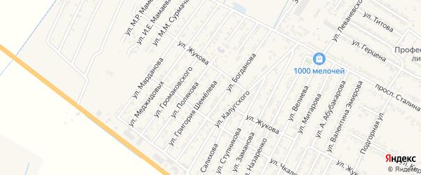 Улица Григория Степанвича Шемелева на карте Дагестанских огней с номерами домов