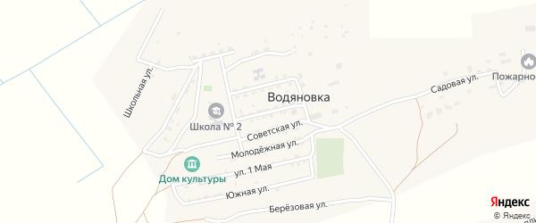 Коммунистическая улица на карте села Водяновка с номерами домов