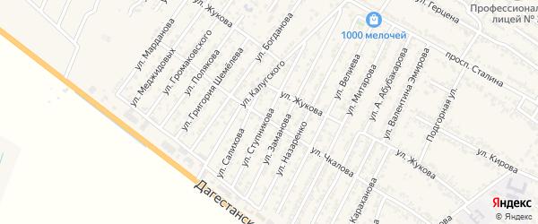 Улица Николая Васильевича Ступникова на карте Дагестанских огней с номерами домов