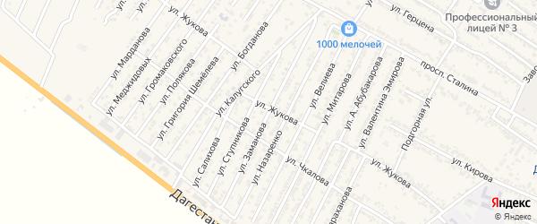 Улица Хаирбека Демирбековича Заманова на карте Дагестанских огней с номерами домов