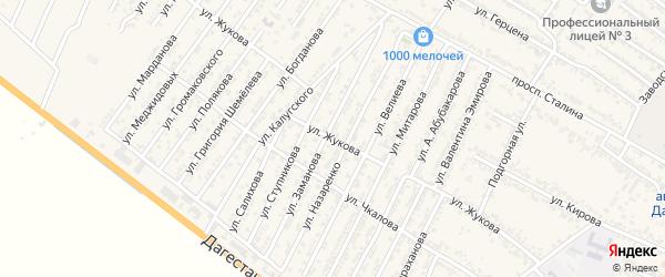 Улица Георгия Константиновича Жукова на карте Дагестанских огней с номерами домов