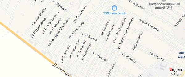 Улица Николая Степановича Назаренко на карте Дагестанских огней с номерами домов
