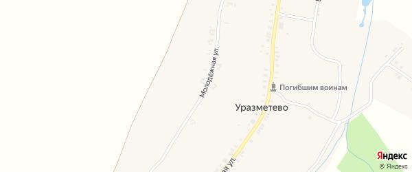Молодежная улица на карте деревни Уразметево с номерами домов