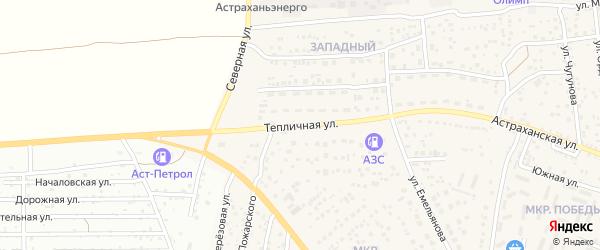 Тепличная улица на карте села Началово с номерами домов