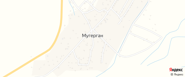 Комсомольская улица на карте села Мугергана с номерами домов