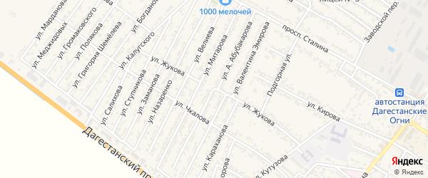 Улица Абубакарова на карте Дагестанских огней с номерами домов