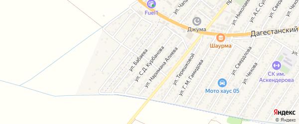 Улица Саида Джамаловича Курбанова на карте Дагестанских огней с номерами домов