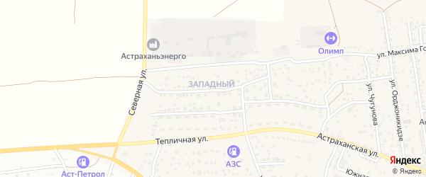 Западный микрорайон на карте села Началово с номерами домов