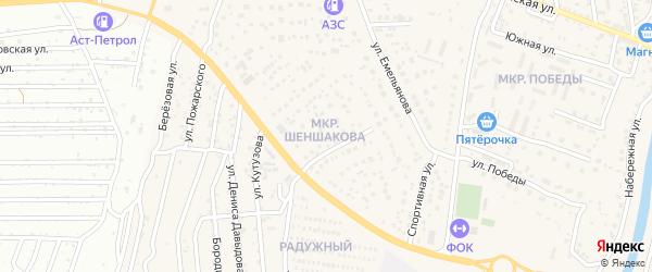 Микрорайон Шеншакова на карте села Началово с номерами домов