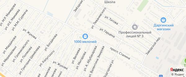 Проспект Иосифа Виссарионовича Сталина на карте Дагестанских огней с номерами домов
