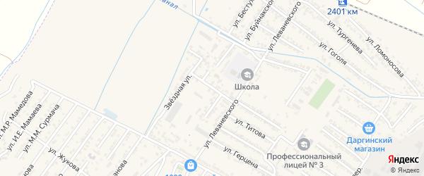 Улица Веры Волошиной Даниловны на карте Дагестанских огней с номерами домов