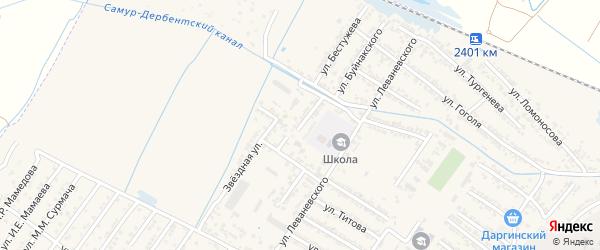 Звездная улица на карте Дагестанских огней с номерами домов