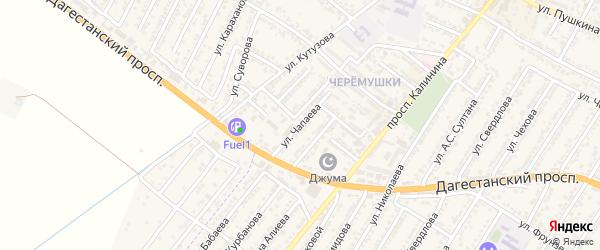 Улица Василия Ивановича Чапаева на карте Дагестанских огней с номерами домов