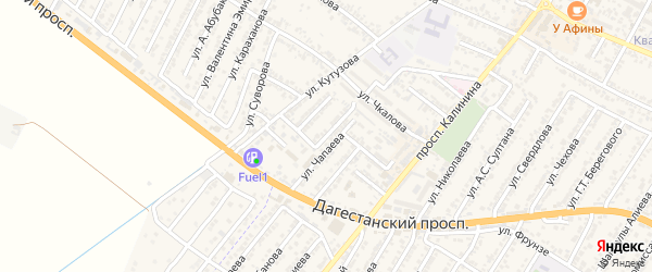 Улица Ивана Степановича Конева на карте Дагестанских огней с номерами домов