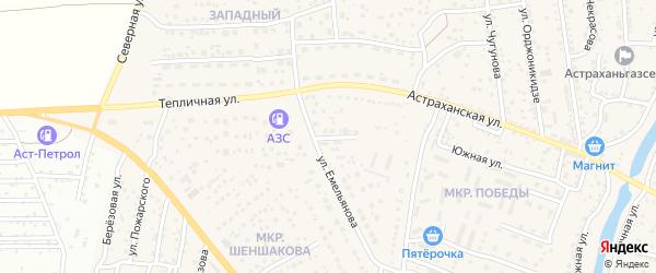 Улица Белинского на карте села Началово с номерами домов