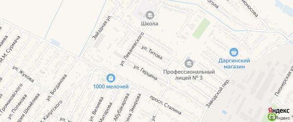Улица Светланы Евгеньевны Савицкой на карте Дагестанских огней с номерами домов