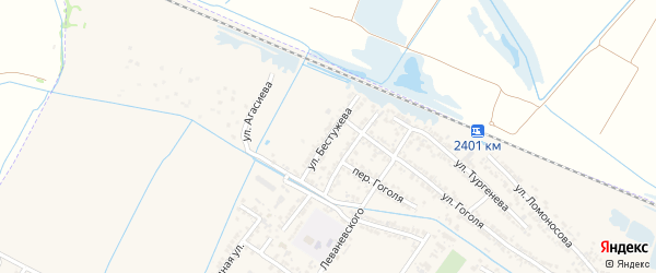 Переулок Александра Александровича Бестужева на карте Дагестанских огней с номерами домов