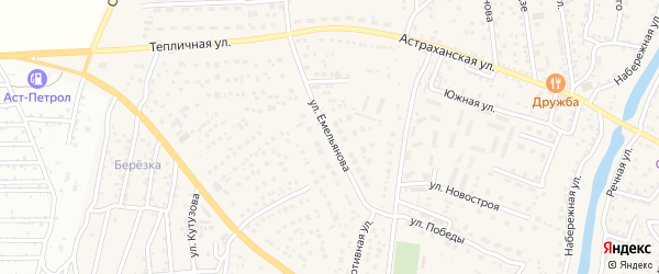 Улица Емельянова на карте села Началово с номерами домов