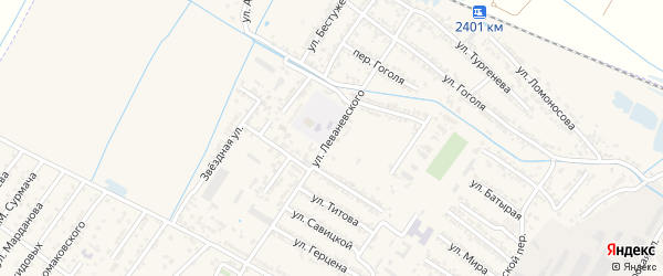 Улица Сигизмунда Александровича Леваневского на карте Дагестанских огней с номерами домов